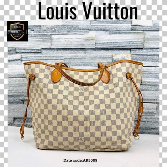 Louis Vuitton Handbags - Louis Vuitton tote bag damier azur neverfull MM